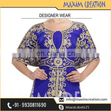 Get This Beautiful Party Wear Khaleeji Thobe With Unique Embroidery Design