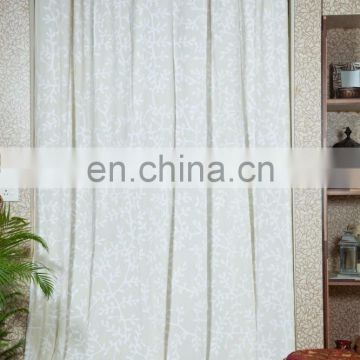 High quality 100% cotton decorative hotel curtain