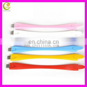 Silicone made wholesale portable drive, Soft silicone slap band usb flash drive