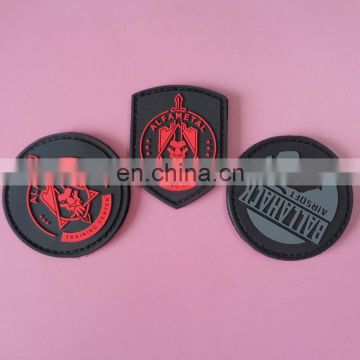 cusotmized soft pvc patch embossed company brand pvc patches