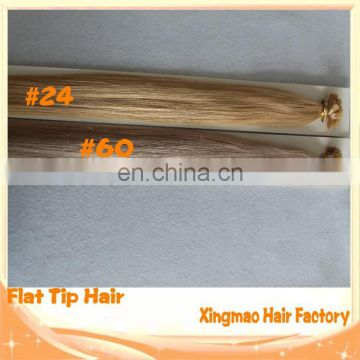 Wholesale Cheap Price Grade 4A 100% Remy Human Flat Tip Hair Extension