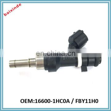 NISSANs Micra Fuel Rail Injectors OEM 16600-1HC0A FBY11H0 K13 1.2 Petrol 2014 Common Rail Injector