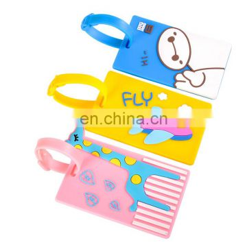 fashion design luggage tag, 2D embossed baggage tag, eco-friendly PVC bag tags