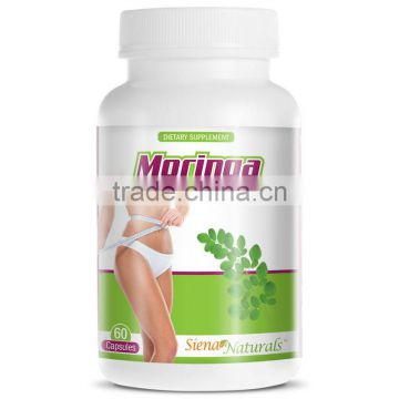Health Food Supplement 1200mg MORINGA Capsules Private Label