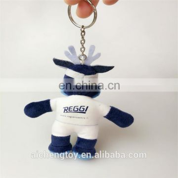 blue cartoon character plush stuffed toy keychains doll