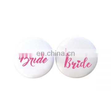 White Hen Night Hen Party Bride to Be team bride Bachelorette Badges