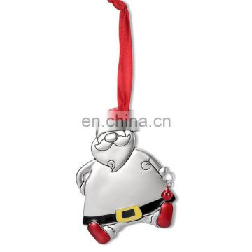 metal enamel SANTA'S MAGIC KEY christmas ornaments,high quality key chrismas charm