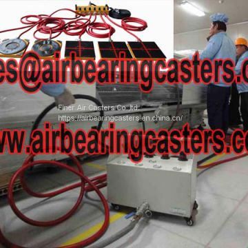 Air bearing casters six air modular