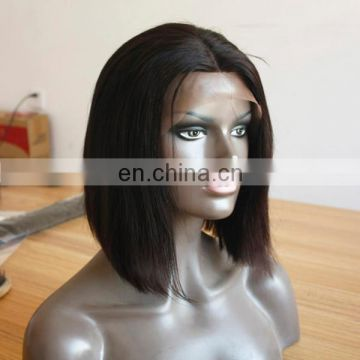 Wholesale cheap short hair wig bob style lace front human hair wig