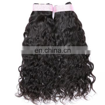 bundle weft Remy Virgin human brazilian water wave hair extensions