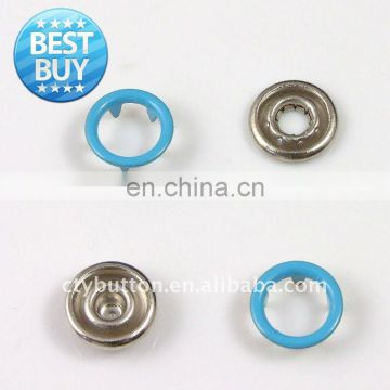 four parts metal prong snap button custom craw snap ring for garment