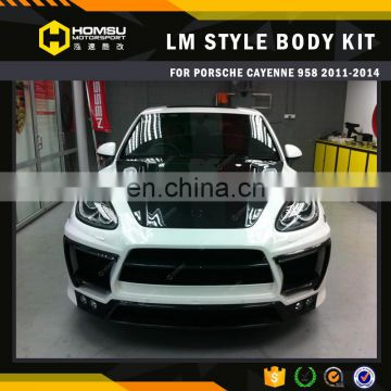 Auto parts Carbon FRP body kits 11-12 958 LM body kit for porsc cayne bumper
