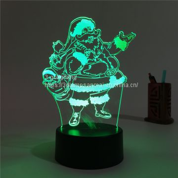3D illusion night light Christmas