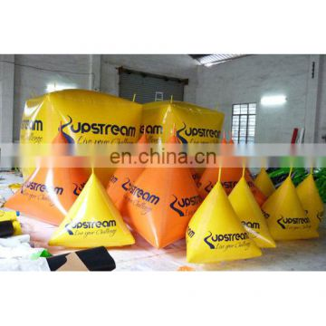 2015 Custom floating triangle and cube buoys for water lake or marine event promotion