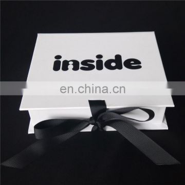 Cute design! Ribbon book shape box with a sweet bow for young girls to pack the decoarations
