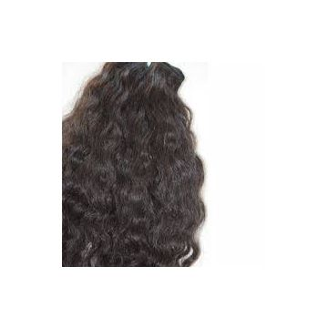 Afro Curl Indian Front Lace Natural Color Human Hair Wigs 18 Inches Multi Colored