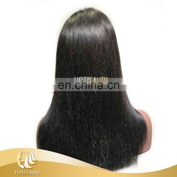 Paypal Customized Quality wig closure made wig 150% density Hotbeauty Brazilian Hair Wig