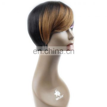 alibaba express best quality short cheap ombre looking 100% brazilian human hair wig