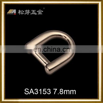 Unique polishing mirror alloy metal d ring