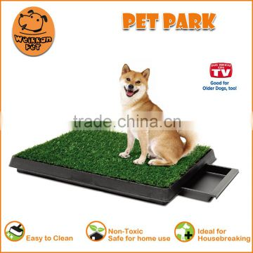 (1001) Pet park deluxe 3-piece dog relief system sythetic grass pet potty