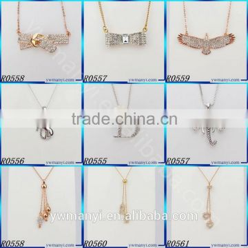 Charms jewelry type gold plated girlfriend heart pendant chain necklace N0716