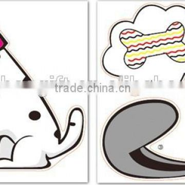 New design Lovely cartoon animal wall sticker lamp Hot sell DIY Style Creative Indoor Spotted dogs style Wall paper Light