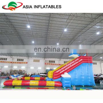 Commercial Big Inflatable Ocotpus Water Park Slide With Pool Used On Land
