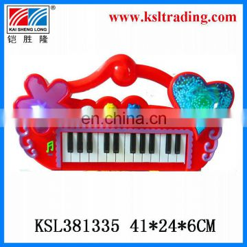 snowflake musical toys plastic electronic organ for children