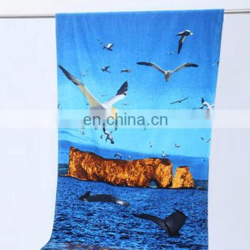 wholesale custom printed round microfibre beach towel clips with logo