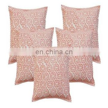 5 pcs lot hand block print Duck cushion cover 16'' Hand Printed Pillow case sd