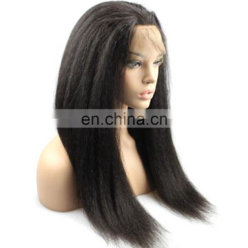 Queena 180% density pre plucked 360 lace frontal wig with baby hair, kinky straight human hair wigs