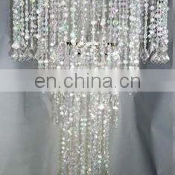 "24"" and 10"" Extra Long Combination Beaded Chandelier"