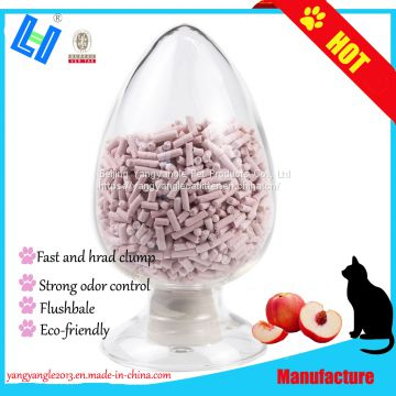 Pet product: hot sell peach tofu cat litter with fast clump