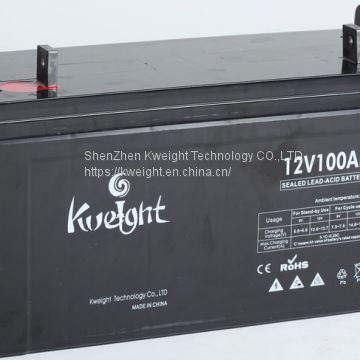 Kweight 12V100Ah AGM battery, Gel battery, Solar battery, Deep cycle battery, OPzS battery, OPzV battery