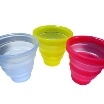 Customized 270ml Travel Camping Silicone Collapsible Drinking Cup
