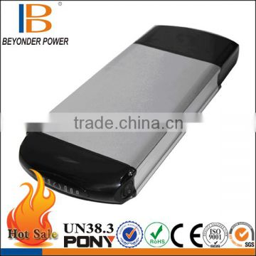 Rechargeable type 3.6v lithium battery for electric bike, best factory price OEM with BMS, charger and Alu case