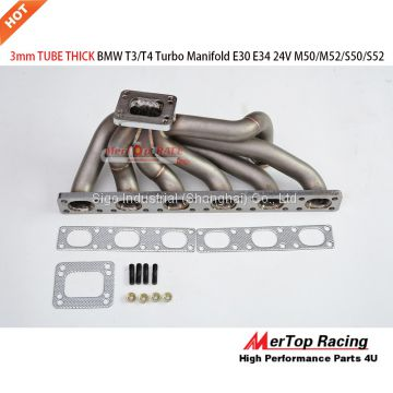 Mertop Race update 3mm Thick Top Mount T3/T4 Turbo Manifold for BMW