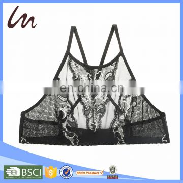 Customised LOGO Ladies Transparent Lingerie Panties And Bra