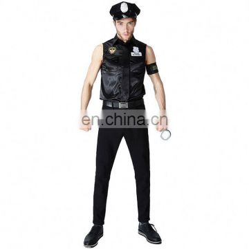 2017 Fast Delivery Carnival Halloween Handsome Police Men Sexy Cosplay Costume