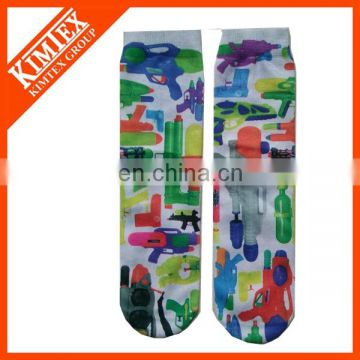 100% polyester cartoon tube socks