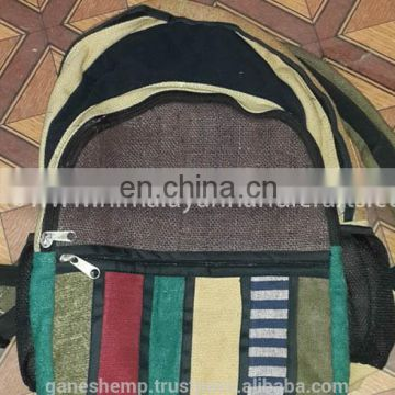 Rainbow Hemp Backpack HBB 0016