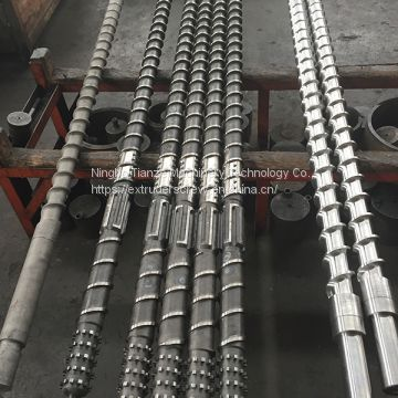 Screw barrel for plastic rubber production machine IMM Extrusion machine plastic pipe film