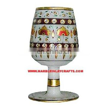 Exclusive Marble Wine Glass, High Quality Handmade Wine Glass