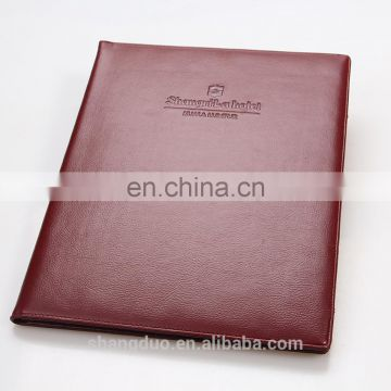 Bestselling Manufacture Price A5 Leather Bound Folder Organizer