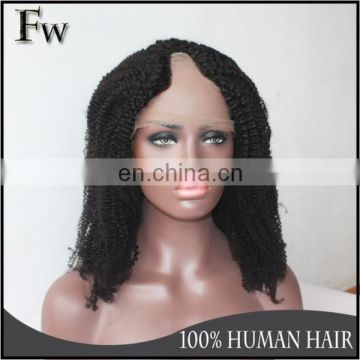 High quality brazilian virgin hair u part wig