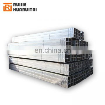 Building material/ Hollow tubes /Q235 Hot dip zinc coated GI galvanized square rectangular steel pipe