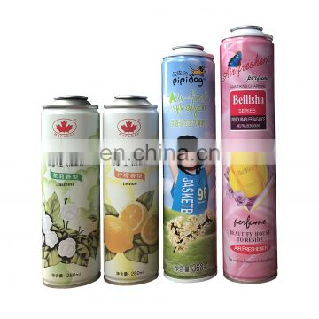 Wholesale mental tin can with spray paint can for air freshener perfume spray