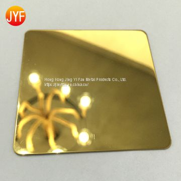 Good quality  mirror titanium gold decorative stainless steel for wall plate