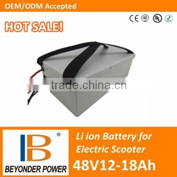 Factory direct saling, high quality electric kick scooter lithium battery, 48V12 to 18Ah battery pack for electric scooters
