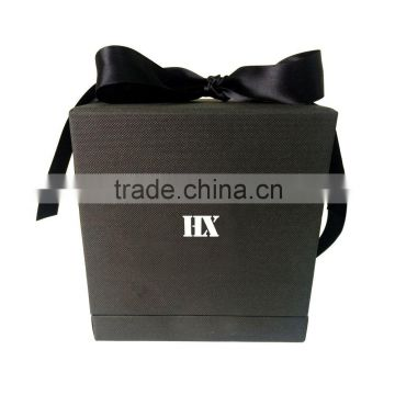 Hot sale unique design flip open cover gold blocking custom printing single wine glass gift boxes wholesale